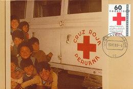 D33367 CARTE MAXIMUM CARD FD 1983 NETHERLANDS - RED CROSS CP ORIGINAL - Red Cross