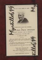 Faire-part De Décès - (1938) Memento - Madame Jean-Pierre Inizan - Avvisi Di Necrologio