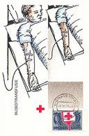 D33368 CARTE MAXIMUM CARD FD 1987 NETHERLANDS - RED CROSS BLOOD TRANSFUSION CP ORIGINAL - Medicine