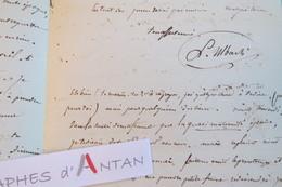 L.A.S 1847 Louis ULBACH (Ferragus) écrivain Journaliste Né à TROYES - Ami De Lamartine - Lettre Autographe LAS - Autographes