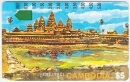 CAMBODIA A-012 Optical OTC - Painting, Culture, Temple, Landmark, Angkor Wat - Used - Cambodia