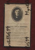 Faire-part De Décès - (1924) Memento - Monsieur Albert Kérébel - Avvisi Di Necrologio