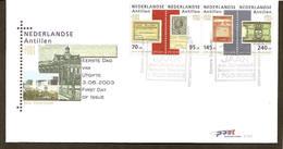 Antillen / Antilles 2003 FDC 347 300 Year Johan Enschede Printer - Curaçao, Antilles Neérlandaises, Aruba