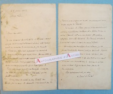 L.A.S 1902 Louis Xavier De RICARD Poète - Fontenay-sous-Bois - Pelletan Chaumié Faure Sarrault Lettre Autographe - Lepic - Autographes