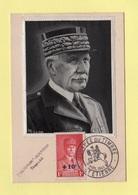 Carte Maximum - N°494 - Marechal Petain - Au Profit Du Secours National - Journee Du Timbre 1942 - St Etienne - Maximum Cards