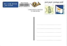 Chypre, Cyprus, Zypern Entier Postal, Ganzsachen, Postal Stationery. Carte Postale Par Avion, Luftpostkarte, - Cyprus (Republic)