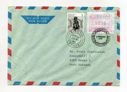 CYPRUS ATM AIR MAIL COVER 1989 NICOSIA LIMASSOL - Cyprus (Republic)