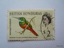 BRITISH HONDURAS 1962, Postage Revenue, Rufoused-TaledJacmar, $2. SG212. Used. - Honduras Británica (...-1970)