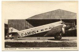 RC 8504 AIR FRANCE AVION TRIMOTEUR WIBAULT AU SOL - 1946-....: Modern Era