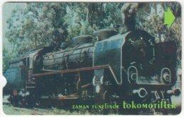 TURKEY B-397 Magnetic Telekom - Traffic, Steam Lokomotive - Used - Turkey