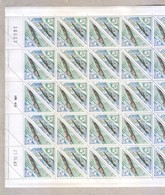 Congo MNH Sheet Feuille 1961 Timbre Taxe Stamp Duty Tax 2F Stamps - Congo - Brazzaville