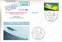 Berlin - Lettre De 1980 - Oblit Fulda - Vol Spécial Par Planeur - - Cartas