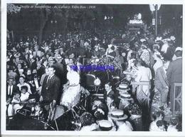 92627 ARGENTINA DESFILE DE AUTOMOVILES AV CALLAO Y ENTRE RIOS 1936 25 X 19 CM PHOTO NO POSTAL TYPE POSTCARD - Argentina