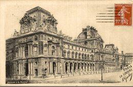 DESSIN A LA PLUME PARIS LE LOUVRE A. GOULON - Peintures & Tableaux
