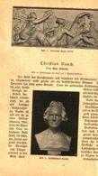 Christian Rauch/ Artikel, Entnommen Aus Kalender / 1907 - Books, Magazines, Comics