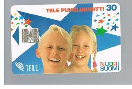 FINLANDIA (FINLAND) -  1995   NUORI SUOMI, GIRL AND BOY       - USED - RIF. 10810 - Finlandia