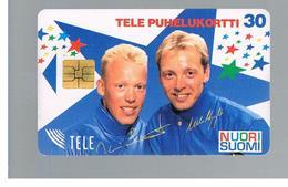 FINLANDIA (FINLAND) -  1995   NUORI SUOMI, SKIERS       - USED - RIF. 10810 - Finlandia