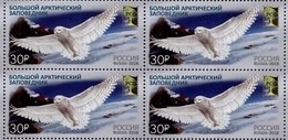 Russia 2018 Block Joint RCC Issue Nature Reserves Bubo Scandiacus Owls Birds Animals Fauna Owl Bird Stamps MNH Mi 2538 - Owls