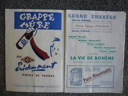 Programme GRAND THEATRE De TOURS (37) Saison Lyrique 1952 - 1953 - Programmi
