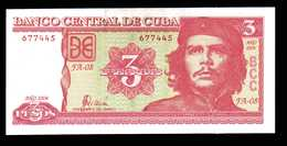 CUBA Billet De 3 Pesos Année 2004 Neuf  Fidel Castro Et Coupeur De Canne à Sucre - Cuba