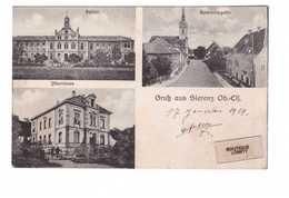 68 Sierentz Carte 3 Vues Hopital Presbytere Gruss Aus Sierenz Spital Pfarrhaus - France