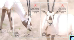 Oman Stamps 2016, Fauna, Oryx, MS - Oman