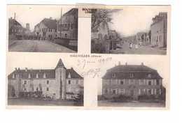 68 Bollwiller Cpa Carte 4 Vues Correspondance 1919 - Otros Municipios