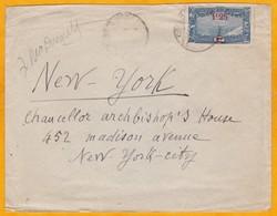 1924 - 1927 - Enveloppe De Djibouti, C. F Somalis Vers New York, USA - YT 117: 1f25 Sur 1 F Seul - Lettres & Documents