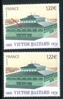 France - 3639 - 1 Exemplaire Gouttières Blanches + 1 Normal Vert , Neufs ** - Ref VJ91 - Abarten: 2000-09 Ungebraucht