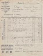 03 1472 MONTLUCON ALLIER 1909 Verreries A. DUCHET Verrerie Bouteilles A MARQUE - Frankreich