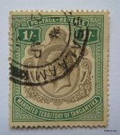 TANGANYIKA 1927, King George V, Postage-Revenew Stamp, Mandated Territory Of Tanganyika, 1S. SG102. Used. - Kenya, Uganda & Tanganyika
