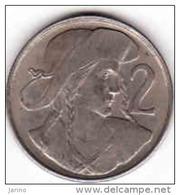 Tchécoslovaquie- Tschechoslowakei. 2 Kronen 1948, 2 Koruny,24 - Slovak Uprising, 0.500 Silver, 10 G - Czechoslovakia