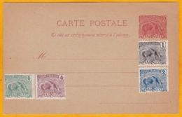 C. 1920 - Entier CP Guyane Française 10 C Tamanoir Fourmilier - YT CP 11 Avec T. Non Oblitérés YT 49 à 52 - Guyane Française (1886-1949)