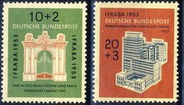 RFT-BRD 1953 UN Serie N. 57-58 MNH Postfrisch Cat. € 55 - Ungebraucht