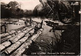 AFRIQUE - COTE D'IVOIRE - Flottage De Billes D'acajou - Carte Postée - Ivory Coast