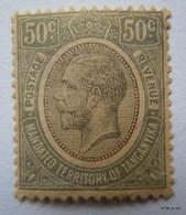 TANGANYIKA 1927, King George V, Postage-Revenew Stamp, Mandated Territory Of Tanganyika, 50c. SG100. MNH - Kenya, Uganda & Tanganyika