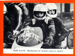 PARIS - Manifestation De Motards Contre La Vignette - 4/11/79 - Manifestations