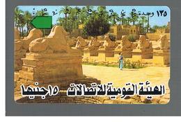 EGITTO  (EGYPT) -  AVENUE OF SPHINX -  USED  -  RIF. 10815 - Egypt