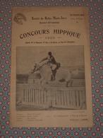 Equitation - Société Du Rallye Monts Jarez - Concours Hippique 1923 - Saint Etienne - Programme Officiel - Equitation