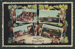 71  CLUNY  ( SAÔNE- ET- LOIRE )..SOUVENIR... MULTIVUES  C2614 - Cluny
