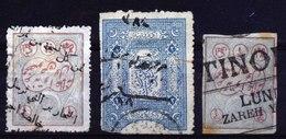 A5389) Persien Türkei 3 Fiskal-Marken Gebraucht - Irak