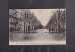 75 PARIS ,Les Innondations De 1910 , Passerelle Boulevard HAUSMANN - Inondations De 1910