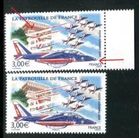 France - P.A 71- 1 Exemplaire Rouge Déplacé + 1 Normal , Neufs ** - Ref VJ93 - Abarten: 2000-09 Ungebraucht