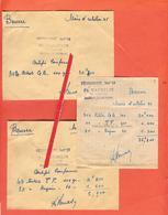 2 Enveloppes  Contenant La Valeur De 36,300 Kg De Beurre En Tickets De Rationnement. - Documents Historiques
