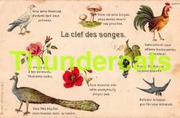 CPA CARTE LITHO J. BRIEN BRUXELLES LA CLEF DES SONGES LANGAGE LANGUAGE - Oiseaux