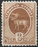 Norway - 4 Tromsø Local City Post Stamps (revenues, Fiscals) ~1880s  Moose Stag Elk Deer - Oblitérés