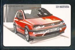 GERMANY Telefonkarte O 329 93 VW Golf-  Aufl 10000  -siehe Scan - Deutschland