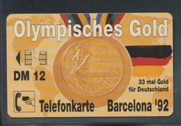 GERMANY Telefonkarte O 498 93 Olympiade Barcelona 92 -  Aufl 20000  -siehe Scan - Deutschland