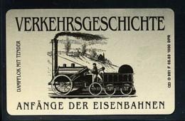 GERMANY Telefonkarte O 951 F  93 Anfänge Der Eisenbahnen -  Aufl 1000  -siehe Scan - Deutschland