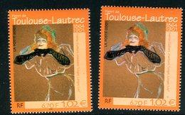 France - 3421 - 1 Exemplaire Visage Jaunâtre + 1 Rosâtre , Neufs ** - Ref VJ97 - Abarten: 2000-09 Ungebraucht